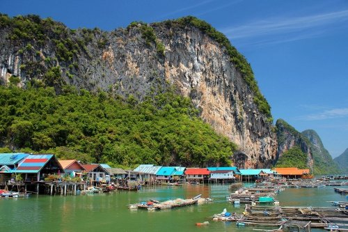 Ко Паньи: Плавучая деревня в Таиланде (9 фото)