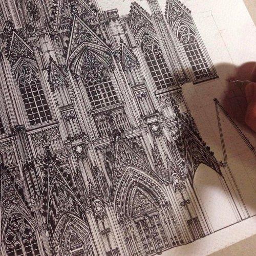 Художница в деталях изображает архитектурные достопримечательности мира (16 фото)
