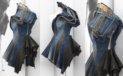 Платья, созданные из джинсов (9 фото)