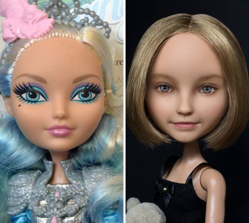 Украинская художница перерисовывает куклы, делая их реально выглядящими (24 фото)