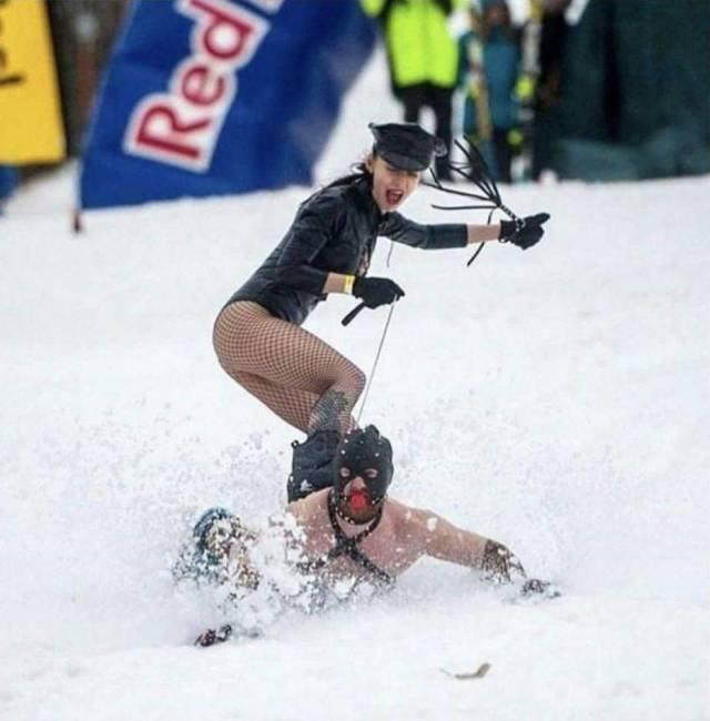 Прикольные картинки про лыжников и сноубордистов