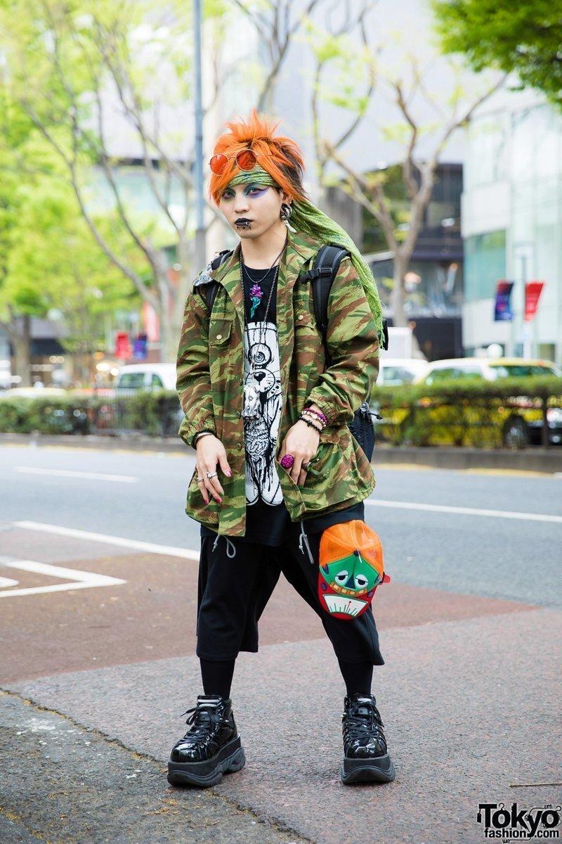 Модники и модницы на улицах Токио (27 фото)