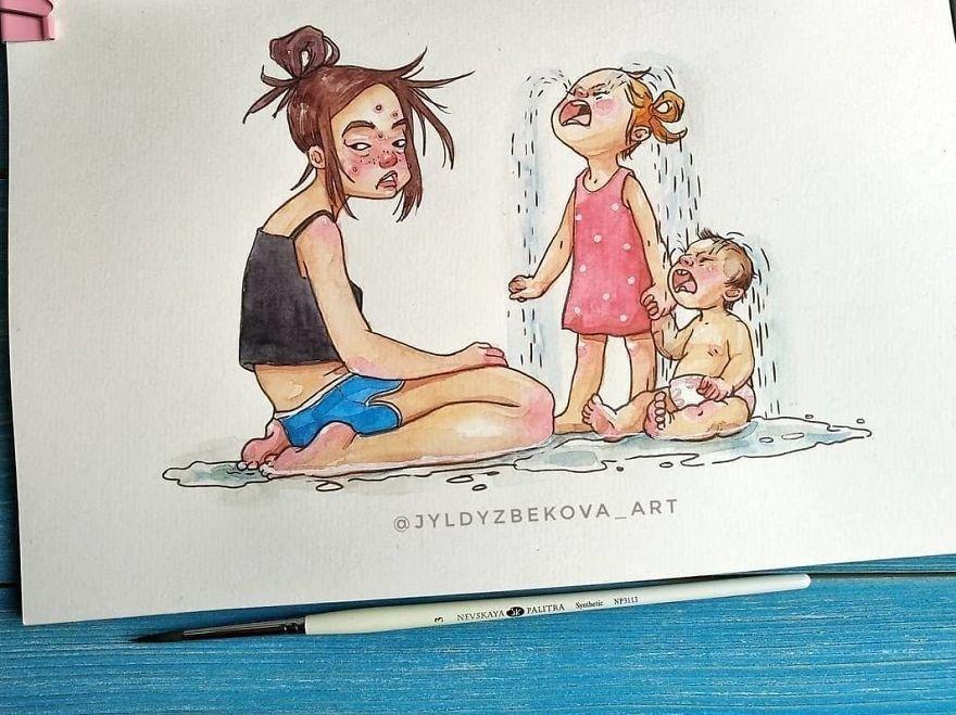 Будни мамы в картинках