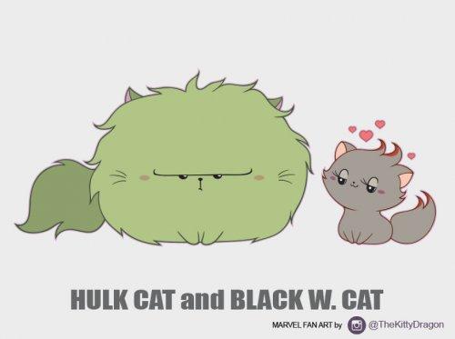 Кошки вселенной Marvel (4 фото)