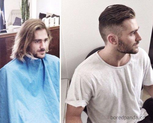 Невероятное преображение мужчин, решившихся на короткую стрижку (26 фото)