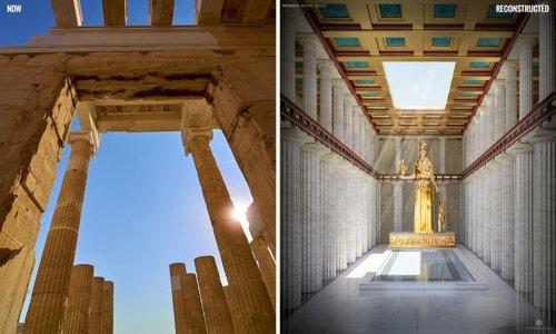 Как на самом деле выглядели Парфенон, Римские бани и другие древние руины (7 фото)