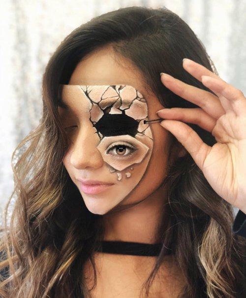 Невероятные оптические иллюзии на лице, сбивающие с толку (16 фото)
