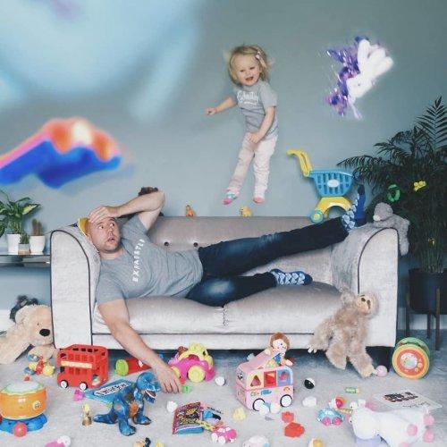 Неспокойные будни отца малышки-проказницы (10 фото)