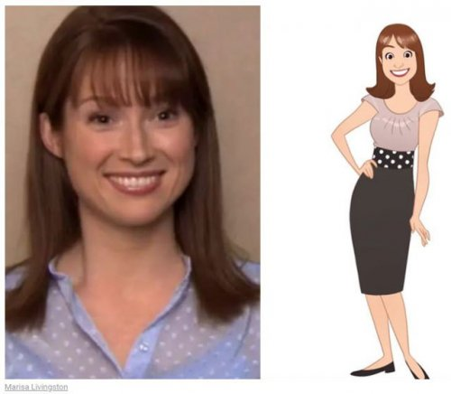 """Как бы выглядели персонажи в мультяшной версии сериала """"Офис"""" (26 фото)"""