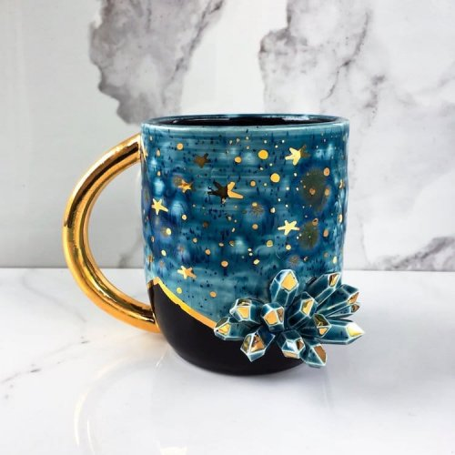 """Завораживающая """"галактическая"""" керамика от Наоми Зингер (9 фото)"""