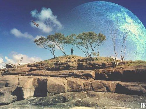 Космические фотоманипуляции австралийского художника Фултона Хоббса (25 фото)