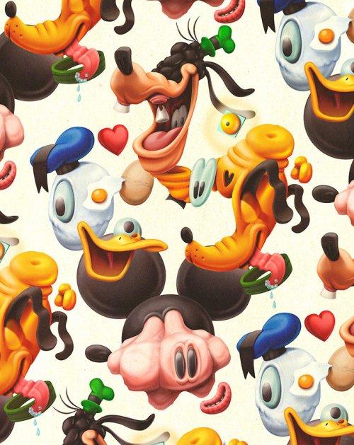 Непривычные мультперсонажи в иллюстрациях Хуана Карлоса Паса (7 фото)