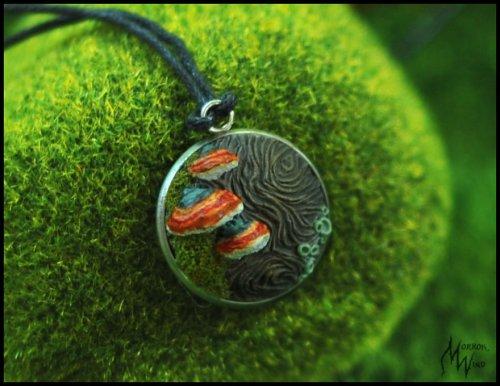 Украшения из полимерной глины, вдохновлённые любовью к лесу (17 фото)