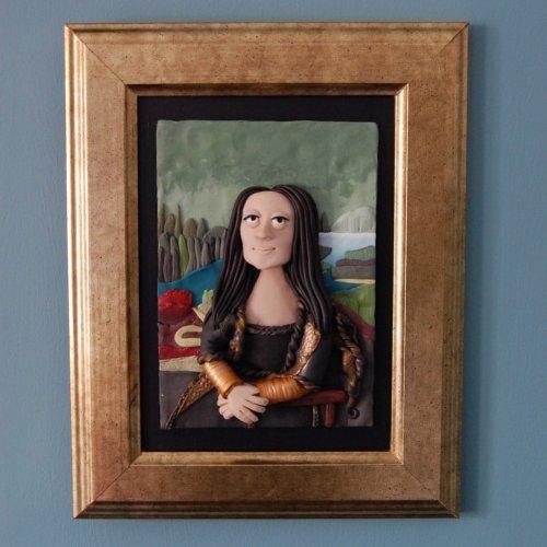 Знаменитые картины, воссозданные из глины (13 фото)