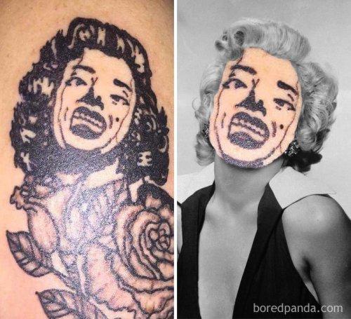 Татуировки с лицами, которые можно было не делать (29 фото)