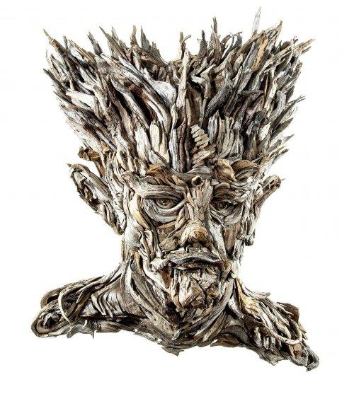 Деревянные скульптурные портреты от Айвэна Тамблвида (8 фото)