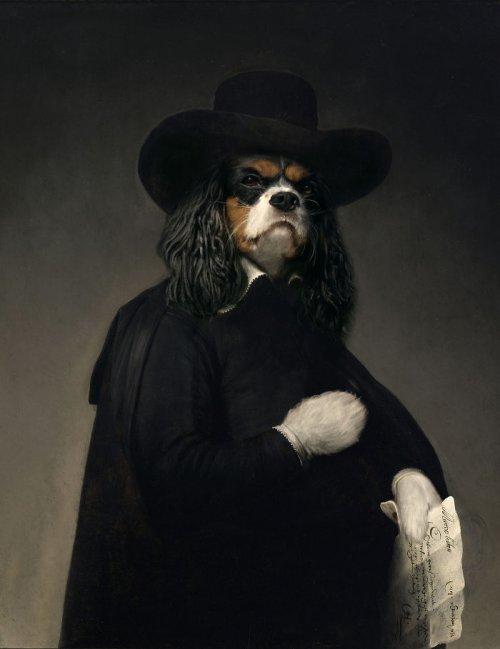 Если аристократов на старинных портретах заменить на животных и персонажей поп-культуры (23 фото)