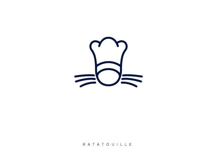 Художник изобразил популярные мультфильмы в виде логотипов (13 фото)