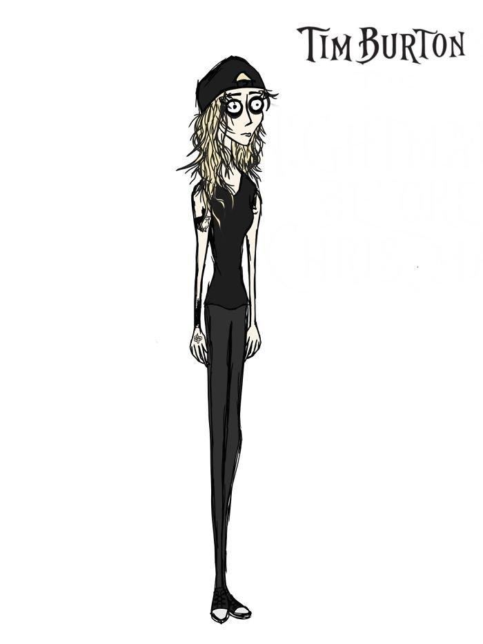 Австралийская художница изобразила себя в стиле мультяшных персонажей