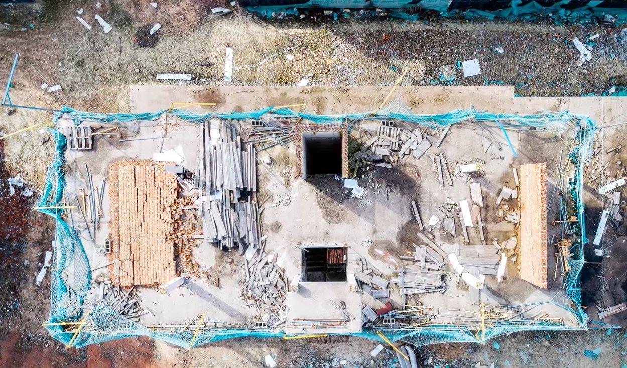Дрон-фотографии разрушающейся архитектуры Испании (8 фото)