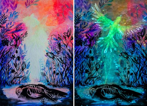 Рисунки Вивьен Санисло, раскрывающие скрытый смысл в темноте (21 фото)