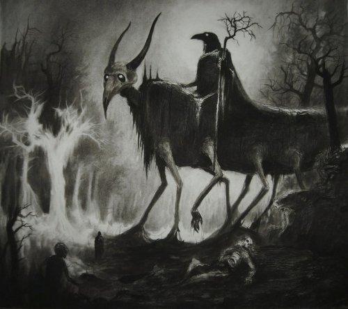 Иллюстрации художника Vergvoktre для настоящих ценителей хоррора (23 фото)