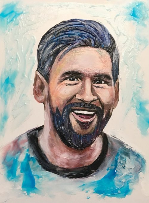 Портреты знаменитых футболистов, нарисованные зубной пастой (16 фото + видео)