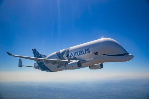 """""""Кит в небе"""": самолёт Airbus, похожий на белуху, совершил свой первый полёт (5 фото)"""