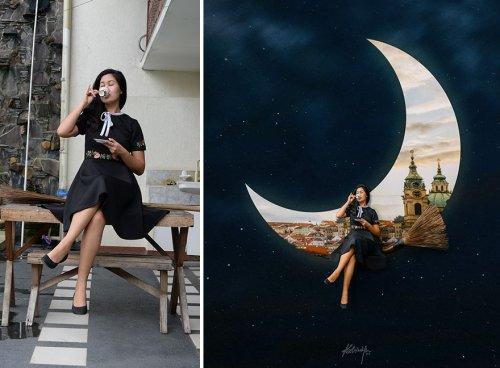 Как фотографии, сделанные на заднем дворе, превращаются в сказочные фантазии Катрины Ю (20 фото)