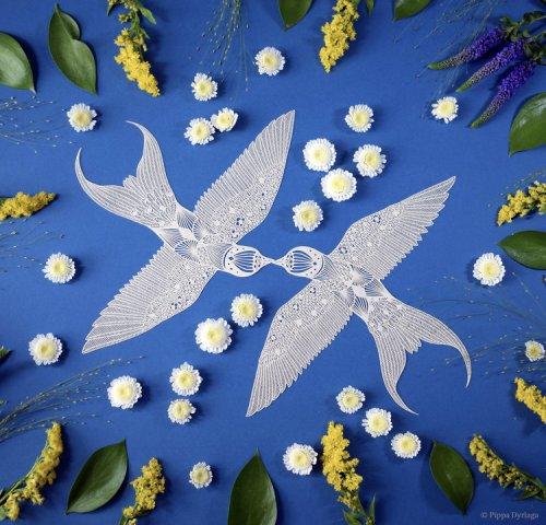 Произведения искусства, вырезанные из бумаги (15 фото)