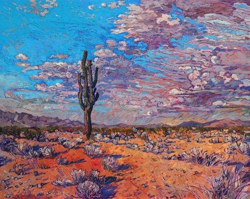 Американские пейзажи в красочных картинах Эрин Хэнсон (9 фото)