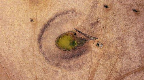 Австралия и природная стихия: последствия сильной засухи с высоты птичьего полета (16 фото)