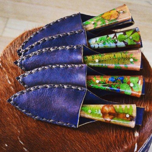 Ботанические ножи ручной работы, увековечившие красоту весеннего сада (13 фото)