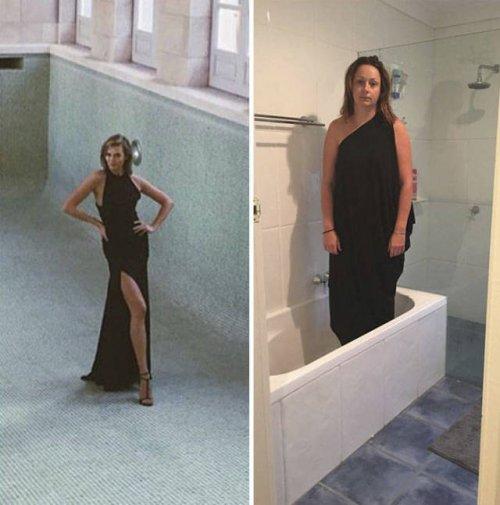 Селеста Барбер продолжает пародировать фотографии знаменитостей (12 фото)