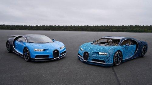 Bugatti Chiron, построенный из LEGO, на котором можно ездить (12 фото + 2 видео)