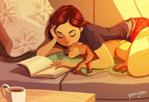 Очаровательные иллюстрации, повествующие о жизни с собакой (27 фото)