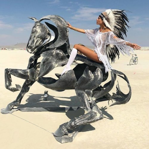 Эпичный фестиваль Burning Man 2018 (32 фото)