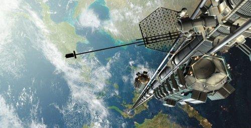 Япония трудится над проектом первого в истории космического лифта (2 фото)