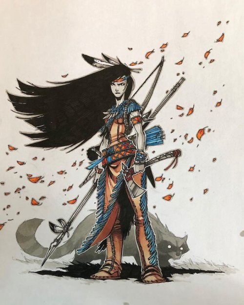 Художник изобразил диснеевских принцесс в образе отважных воительниц (11 фото)