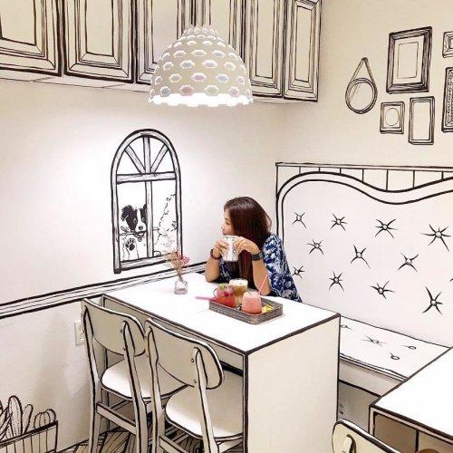Кафе, в котором посетители могут почувствовать себя, как в книжке с комиксами (25 фото)