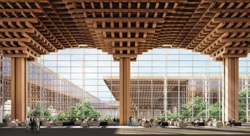 Новый дизайн терминала Бангкокского аэропорта предусматривает крытый тропический лес (3 фото)
