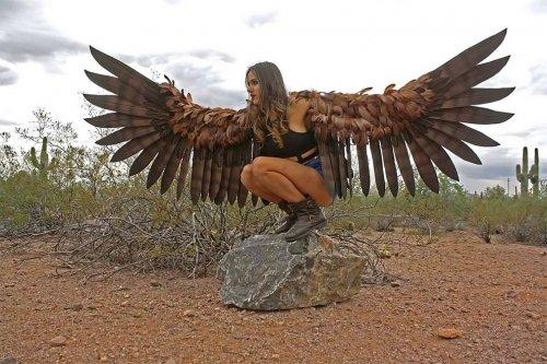 Реалистичные огромные крылья от художницы-косплейщицы Алексис Норьерги (12 фото)