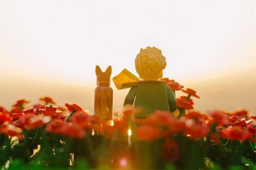"""Фотограф запечатлевает сцены из LEGO из """"Маленького принца"""" Антуана де Сент-Экзюпери (10 фото)"""