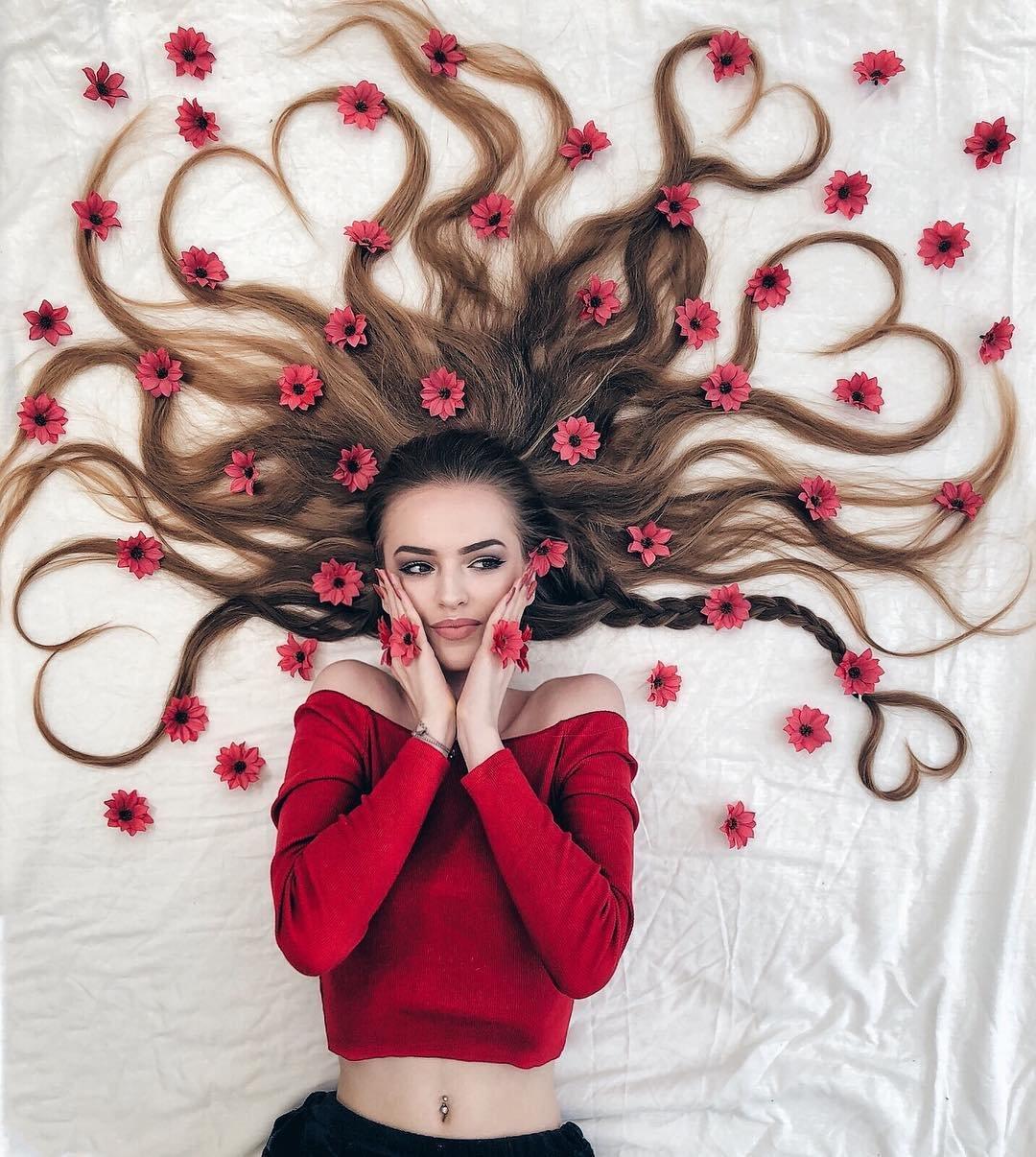 кто-то картинки волосы креатив может