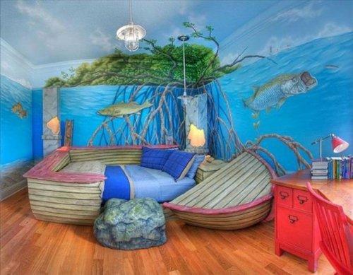 Крутой дизайн детских комнат, хозяевам которых очень повезло с родителями (17 фото)