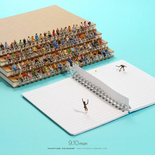 Песчаные дюны — из чипсов, паруса — из ножей: миниатюры японского художника из повседневных предметов (16 фото)