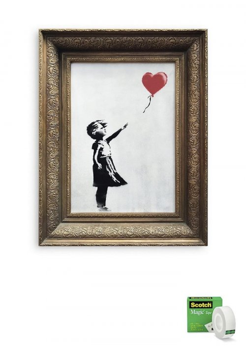 Эти креативные компании использовали измельчённую картину Бэнкси как источник вдохновения (13 фото)