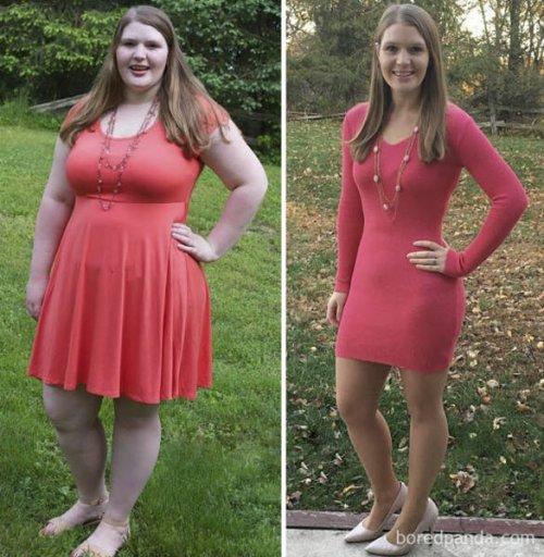 Люди с силой воли, которые решили похудеть и сделали это (24 фото)