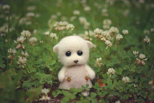 Миниатюрные и трогательные войлочные игрушки Анастасии Жарковой (22 фото)
