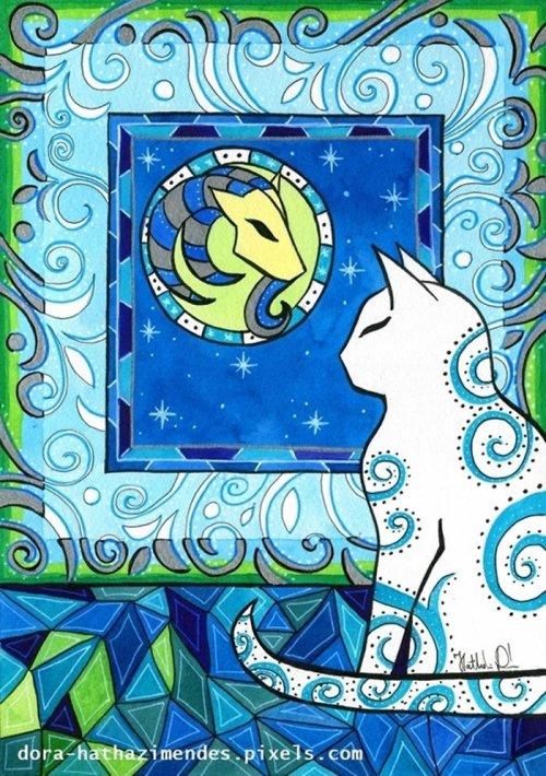 Художница изобразила кошек в виде знаков Зодиака (12 фото)